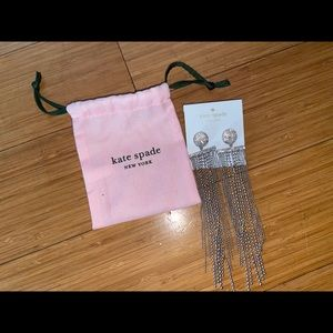 NEW Kate Spade Glimmer Shimmer Silver Earrings